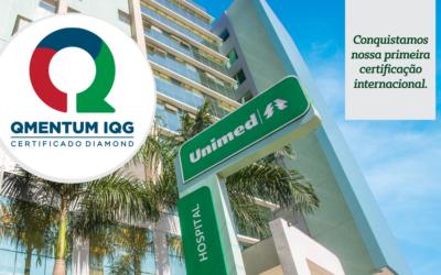 Hospital da Unimed Litoral conquistou a QMentum™ sua primeira certificação internacional
