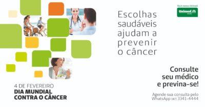 Unimed Litoral participa de mobilização no Dia Mundial do Câncer